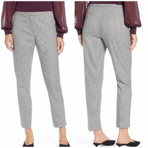 Halogen Plaid Checkered Ankle Skinny Trouser Pant